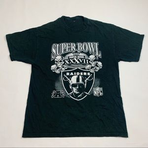 VTG 2003 Oakland Raiders Super Bowl Graphic Tee L